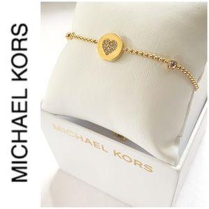 NWT Authentic MK gold tone slider bracelet